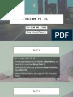 (Mallari vs CA) & (Aboitiz Shipping vs CA)