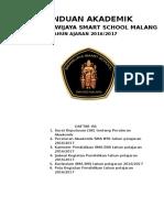 Panduan Akademik Sma Bss 2016-2017