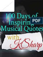 100 DAYS OF INSPIRING MUSICAL QUOTES