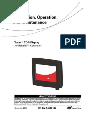 Trane TD5 Display | Hvac | Personal Protective Equipment