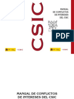 CSIC_Manual de Conflictos de Intereses