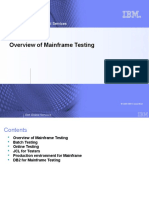 Overview of Mainframe Testing
