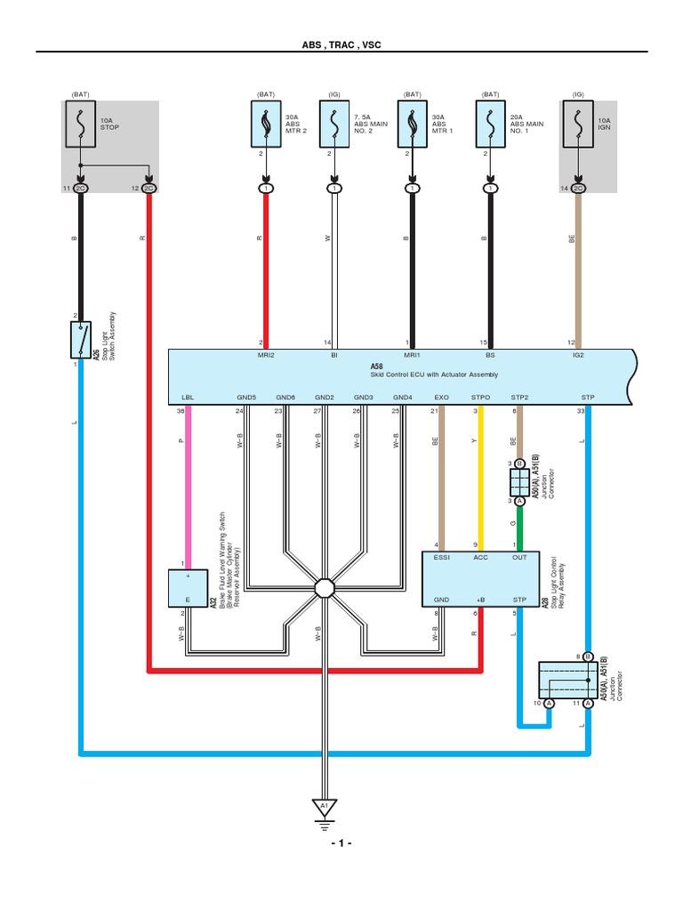 2010 Toyota Prius Electrical Wiring Diagrams Pdf Anti Lock Braking