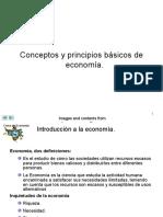 Conceptos y principios básicos de la economía.