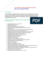 International Journal of Modelling, Simulation and Applications