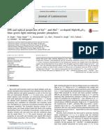 EPR and optical properties of Eu2+ and Mn2+ co-doped MgSrAl10O17 blue–green light emitting powder phosphors