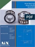 Wheel Bearings Catalogue of Aixparts 2015-2016