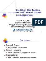Drug Allergy Skin Test, Test Dose, Desensitization AAAAI 2014