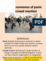 The Phenomenon of Panic and Crowd Reaction