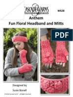 W628 AFunFloralHeadband&Mitts