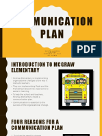 cur 560 communication plan