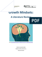 Growth Mindsets Lit Review