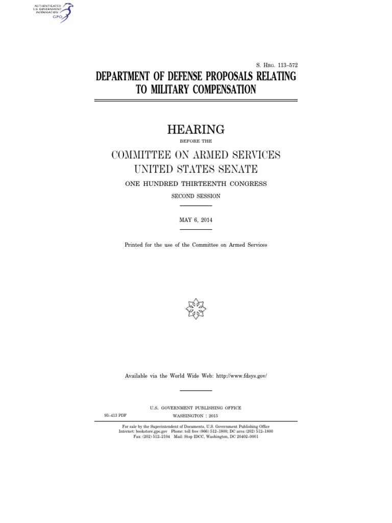 Graeme forbes modern logic scribd - Senate Hearing 113th Congress Department Of Defense Proposals Relating To Military Compensation Joint Chiefs Of Staff Military Of The United States