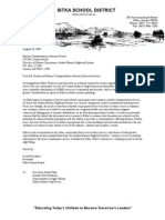 Sitka School District Alaska Marine Highway Advocacy Letter