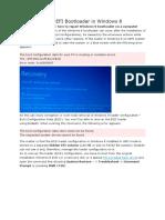 How to Repair UEFI Bootloader in Windows 8