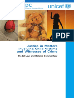 UN Model Law Guidelines on Justice in Matters involving Child Victims and Witnesses of Crime