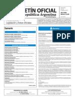 Boletín Oficial de la República Argentina, Número 33.444. 22 de agosto de 2016