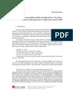 Giovanni LICATA, Elia Del Mendigo Sul Problema Della Causalitá Divina. Un Edizione Critica Della Quaestio de Efficientia Mundi