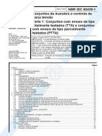 NBR 60439-1 - 2003 - Conj. de Manobra e Cont. de Baixa Tensao