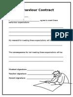 behaviour contract