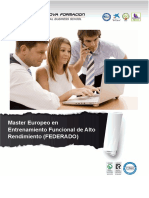 Master Europeo en Entrenamiento Funcional de Alto Rendimiento (FEDERADO)