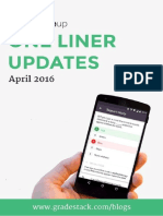 One Liner Updates April 2016 Final