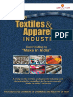 Textiles and Apparel Industry- Contributing to Make in India- ASSOCHAM