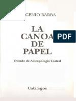 Eugenio Barba - La Canoa de Papel