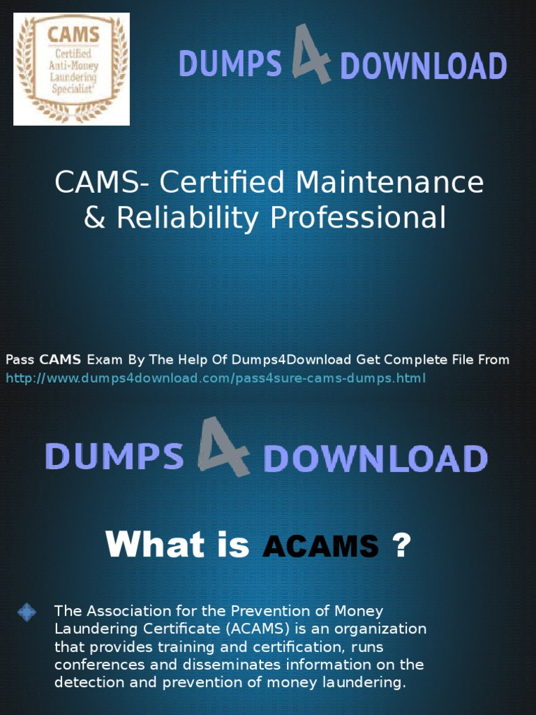 Get Cams Exam Dumps Question Money Laundering Service Industries
