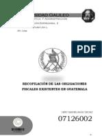 obligaciones fiscales en guatemala