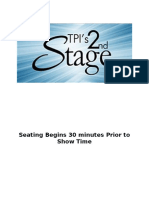 Seating Sign 2nd Stage