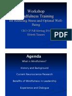 Mindfulness Training Presentation