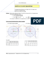 Trigonometrie Sur Le Cercle_Cours