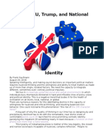 Brexit, EU, Trump, and Political Identity