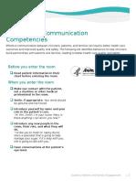 Communication Competencies for Clinicians