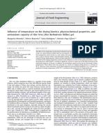 Influencia de La Temperatura Sobre La Cinética de Secado, Propiedades Fisicoquímicas