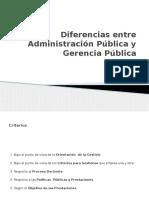 Diferencias Entre Administración Pública y Gerencia Pública (Roberto)