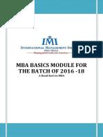 MBA Basics Module