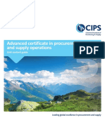 Advanced Certificate in Procurement and Supply Operation