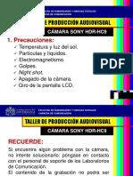 Precauciones Cámara HDR HC9