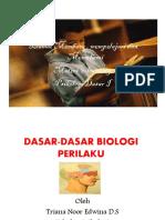 Materi Elearning 6 Nov 2012 Dasar Biologi Dalam Perilaku