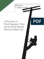 Wood Pole Colation Wood Equivalent Poles 2002 NESC