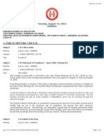 Board Agenda August 2016 Detailed