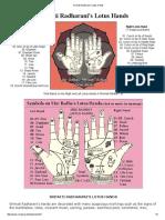 Srimati Radharani's Lotus Hands