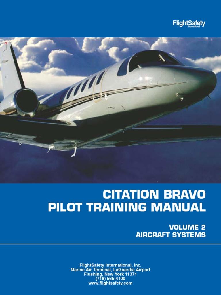 Cessna Citation Bravo Flight Safety Training Manual | Relay | Electric  Generator