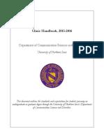Clinic Handbook, 2015-2016