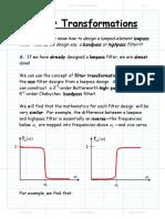 Filter Transformations