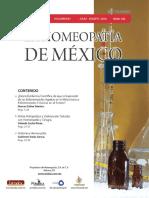 La Homeopatía de México, no. 703 (julio-agosto de 2016)