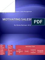 Motivating Salespeople