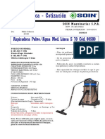 Aspiradora Linea s 70 (Polvo y Agua)